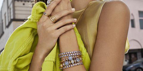 Yellow, Green, Fashion, Nail, Street fashion, Thigh, Leg, Hand, Photography, Finger,