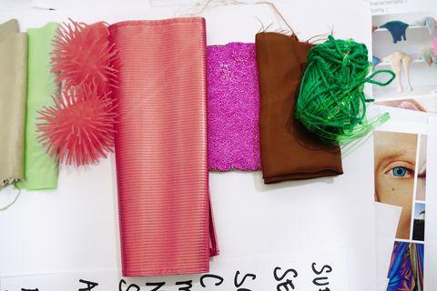 Pink, Font, Room, Hair accessory, Textile, Headband, Headgear, Outerwear, Linens, Fashion accessory,