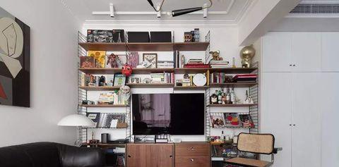 Room, Living room, Interior design, Property, Furniture, Shelf, Ceiling, Building, Yellow, Orange,
