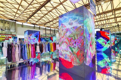 Textile, Visual arts, Architecture, Building, Art, Boutique, Outlet store, Interior design,