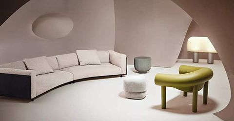Living room, Furniture, Room, Interior design, Wall, Couch, Architecture, Table, Design, Sofa bed,