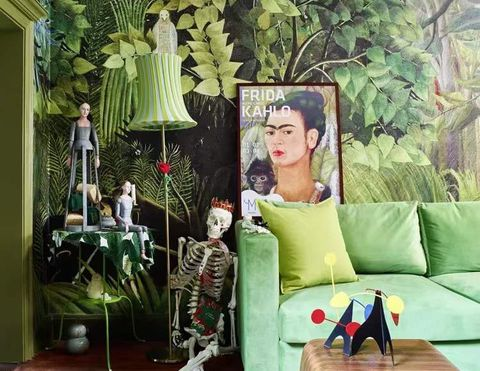 Green, Furniture, Room, Tree, Chair, Swing, House, Interior design, Plant, Leisure,