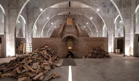 Building, Architecture, Medieval architecture, Arch, Vault, Ceiling, Caravanserai, Crypt,