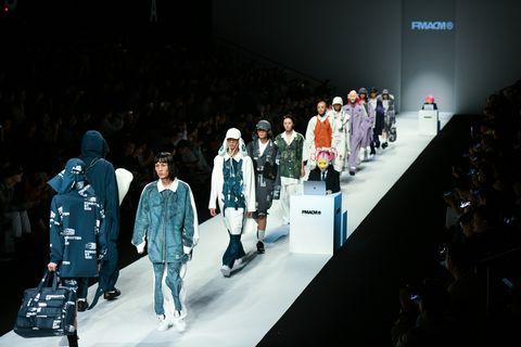 Runway, Fashion, Fashion show, Event, Fashion design, Public event, Design, Performance, Crowd, Winter,