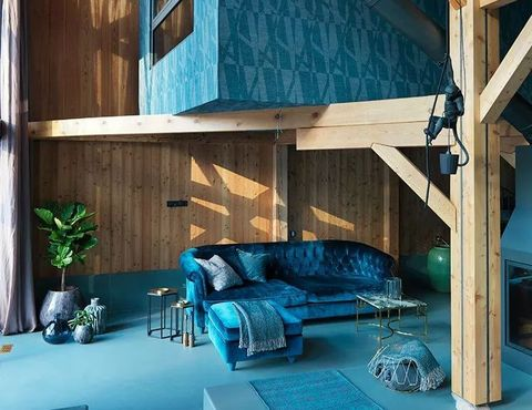 Building, Room, House, Architecture, Turquoise, Interior design, Ceiling, Home, Design, Living room,