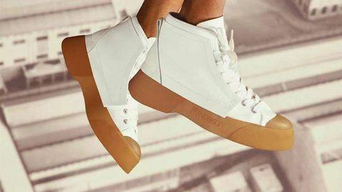jw anderson,运动鞋,,训练鞋,鞋履,休闲,个性,原始,撞色,鲜艳