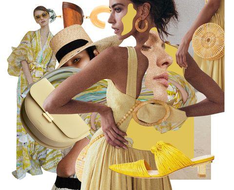 Yellow, Costume design, Illustration, Fashion, Fashion illustration, Art, Victorian fashion, Fashion design, Costume, Dance,