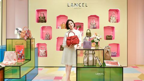 lancel,包袋,限定款,红色,经典,现代,时髦,摩登,法式,个性,佟丽娅