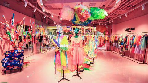 Decoration, Pink, Event, Fun, Function hall, Ceremony, Party, Interior design, Wedding reception,