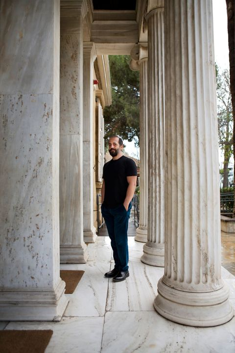 Column, White, Architecture, Standing, Water, Tree, Vacation, Temple, Jeans, Photography,