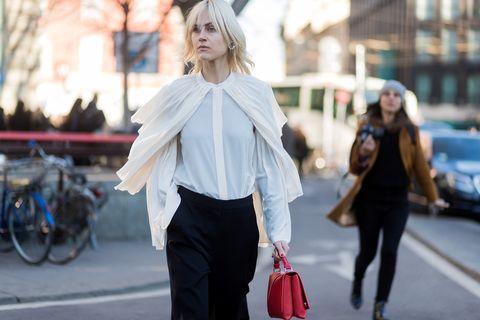 Street fashion, White, Photograph, Clothing, Fashion, Shoulder, Snapshot, Pink, Street, Blond,