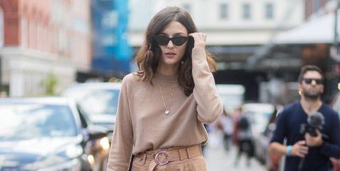 Street fashion, Clothing, Photograph, Fashion, Snapshot, Pink, Brown, Street, Waist, Leg,