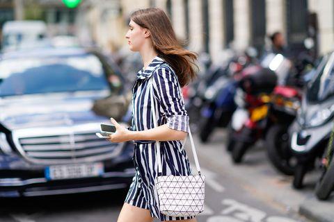 Clothing, Street fashion, Fashion, Shoulder, Beauty, Waist, Dress, Snapshot, Shirt, Outerwear,