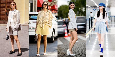 Clothing, Street fashion, White, Fashion, Footwear, Fashion model, Shoe, Shorts, Plimsoll shoe, Sandal,