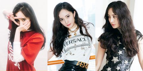 Hair, Clothing, Hairstyle, Black hair, Lip, Fashion model, Long hair, Sleeve, T-shirt, Neck,