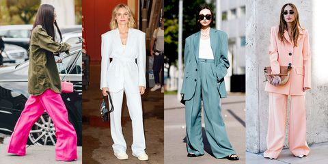Clothing, Street fashion, Fashion, Blazer, Pantsuit, Suit, Outerwear, Footwear, Trousers, Fashion model,