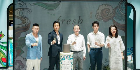 fresh馥蕾诗全球首间免税快闪店开幕仪式的现场嘉宾
