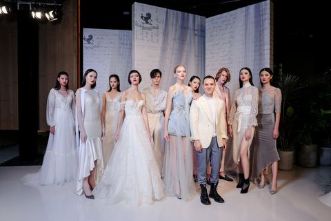 Photograph, Fashion, Dress, Beauty, Event, Bride, Wedding dress, Fashion design, Fashion model, Gown,